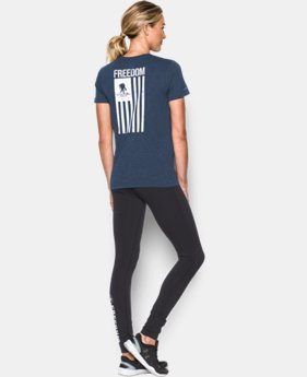 New Arrival Women's UA Freedom Flag T-Shirt LIMITED TIME: FREE SHIPPING  $29.99