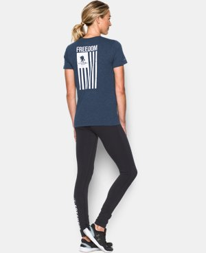New Arrival Women's UA Freedom Flag T-Shirt  1 Color $29.99