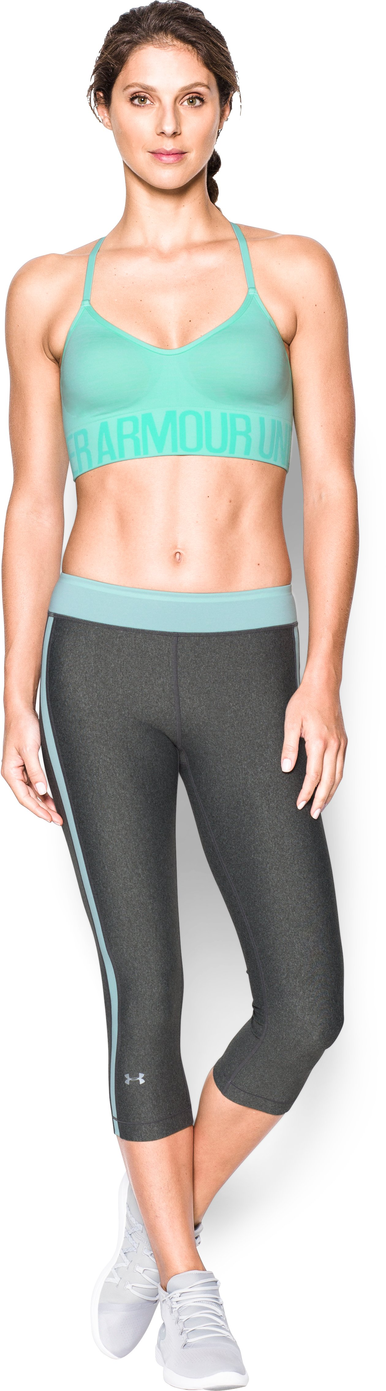 Women's Armour® Seamless Streaky Heather , CRYSTAL, zoomed image