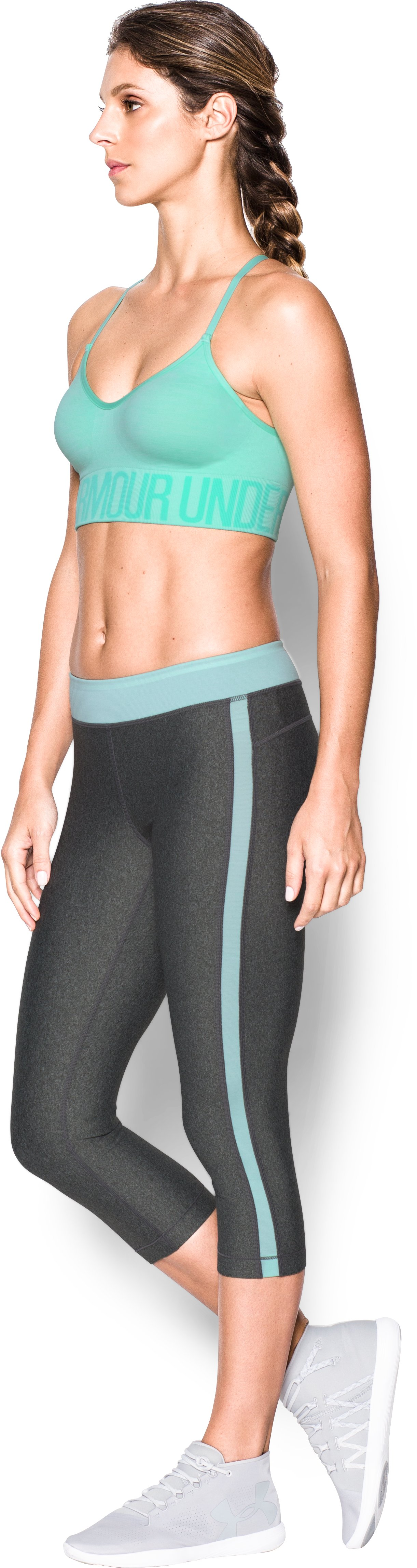 Women's Armour® Seamless Streaky Heather , CRYSTAL
