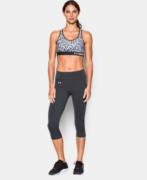 New Arrival  Women's Armour® Mid – Printed Sports Bra LIMITED TIME: FREE SHIPPING 1 Color $34.99