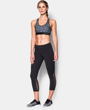 New to Outlet Women's Armour® Mid – Printed Sports Bra LIMITED TIME: FREE U.S. SHIPPING 1 Color $13.49 to $17.99