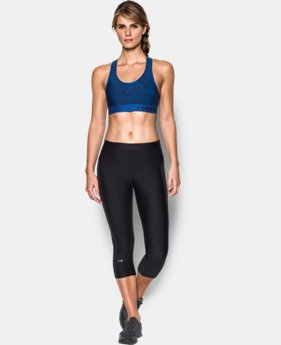 Women's Armour® Mid – Printed Sports Bra  1 Color $29.99