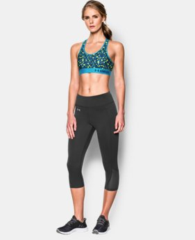 New to Outlet Women's Armour® Mid – Printed Sports Bra LIMITED TIME: FREE U.S. SHIPPING 2 Colors $13.49 to $17.99