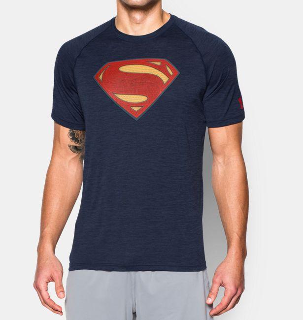 男子Under Armour?英雄系列超人T恤 - 1273661-410