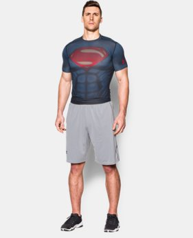New Arrival  Men's Under Armour® Alter Ego Superman Compression Shirt LIMITED TIME: FREE SHIPPING 1 Color $69.99