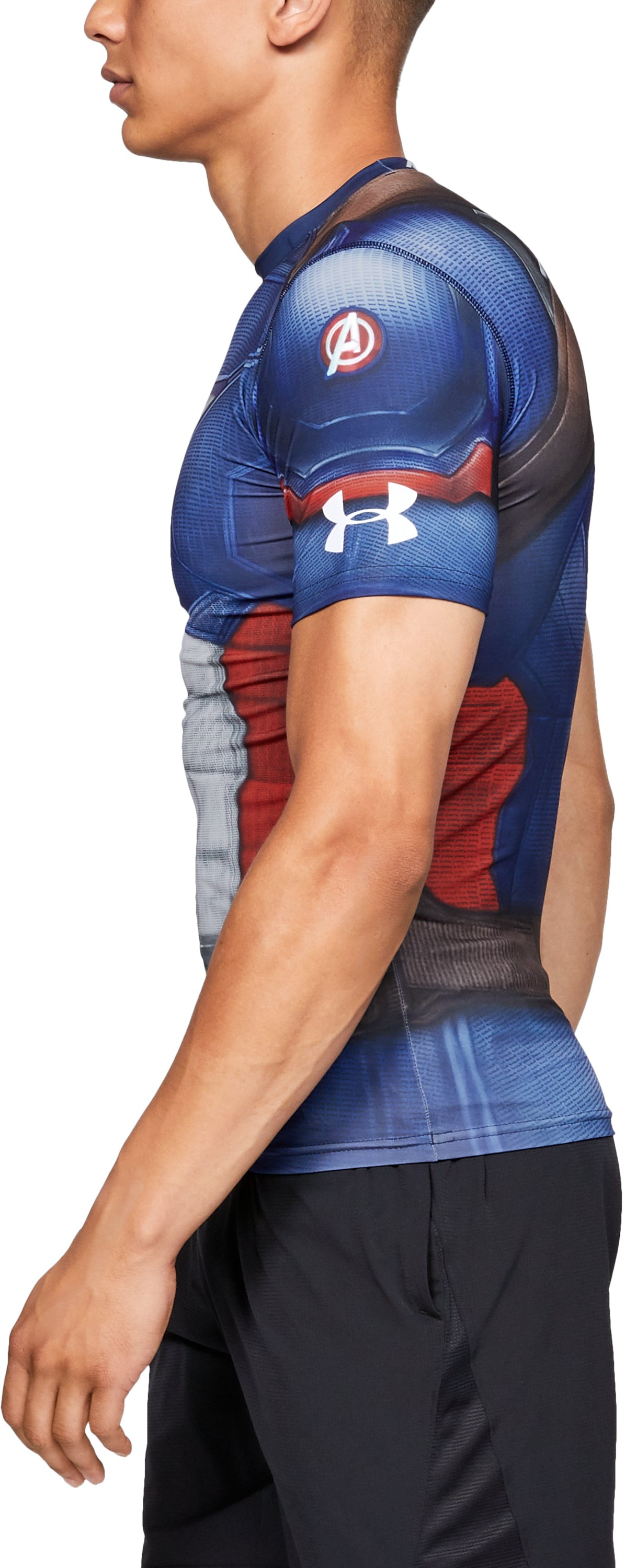 Men's Under Armour® Alter Ego Captain America Compression Shirt, Midnight Navy,