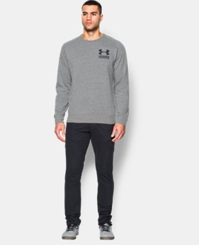 Men's UA Sportstyle Fleece Crew