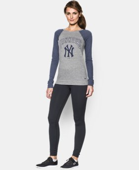 Women's New York Yankees UA Tri-Blend Long Sleeve