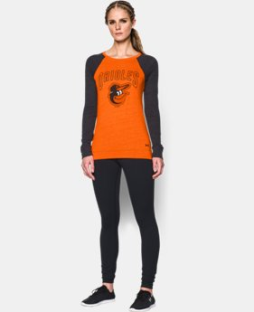 Women's Baltimore Orioles UA Tri-Blend Long Sleeve