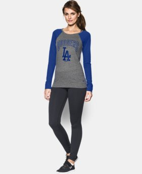 Women's Los Angeles Dodgers UA Tri-Blend Long Sleeve