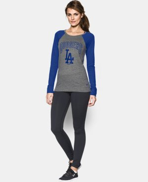 New to Outlet Women's Los Angeles Dodgers UA Tri-Blend Long Sleeve   $26.99