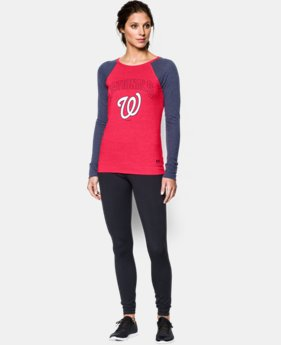 New to Outlet Women's Washington Nationals UA Tri-Blend Long Sleeve  1 Color $26.99