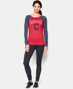 New Arrival Women's Cleveland Indians UA Tri-Blend Long Sleeve LIMITED TIME: FREE U.S. SHIPPING 1 Color $34.99
