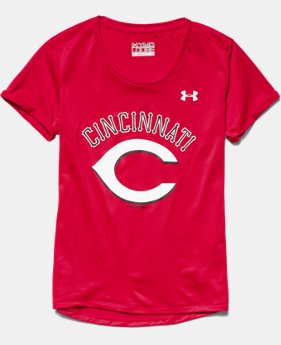 Girls' Cincinnati Reds UA Tech™ T-Shirt