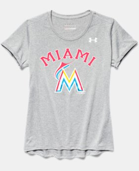 Girls' Miami Marlins UA Tech™ T-Shirt