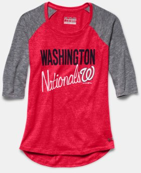 Girls' Washington Nationals UA Tri-Blend ¾ Sleeve
