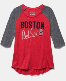 Girls' Boston Red Sox UA Tri-Blend ¾ Sleeve