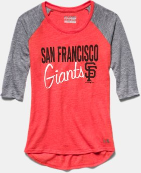 Girls' San Francisco Giants UA Tri-Blend ¾ Sleeve