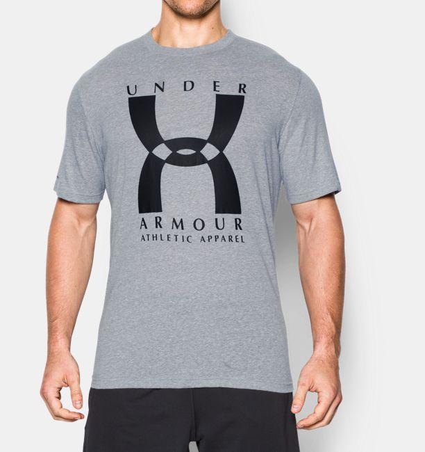 Men s ua 20th original big logo t shirt under armour us for Original under armour shirt