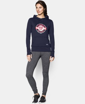 New to Outlet Women's Washington Nationals UA French Terry Hoodie LIMITED TIME: FREE U.S. SHIPPING 1 Color $52.99