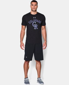 Men's Colorado Rockies Retro Charged Cotton® Tri-Blend T-Shirt LIMITED TIME: FREE U.S. SHIPPING 1 Color $26.99