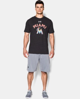 Men's Miami Marlins Retro Charged Cotton® Tri-Blend T-Shirt