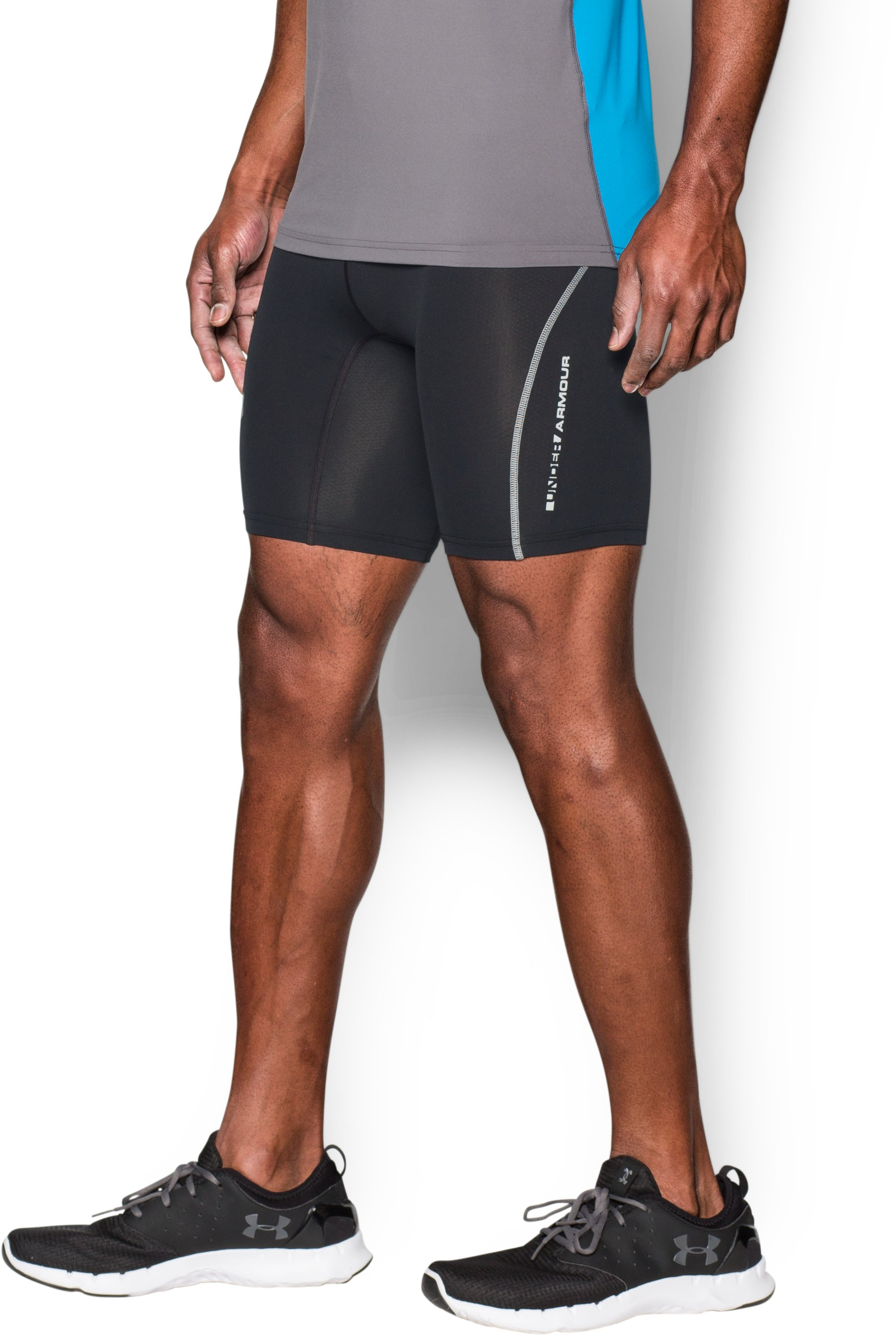 Men's UA CoolSwitch Run Compression Shorts, Black ,
