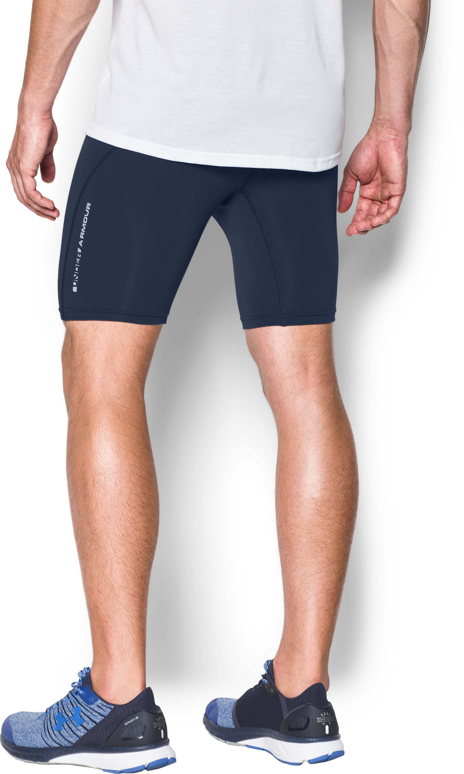 Men's UA CoolSwitch Run Compression Shorts, Midnight Navy, undefined