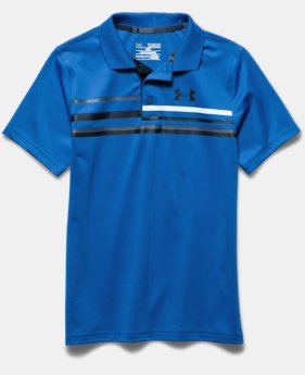 Boys' UA Blade Edge Stripe Polo