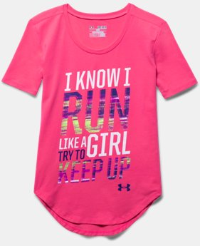 Girls' UA Run Like A Girl Short Sleeve
