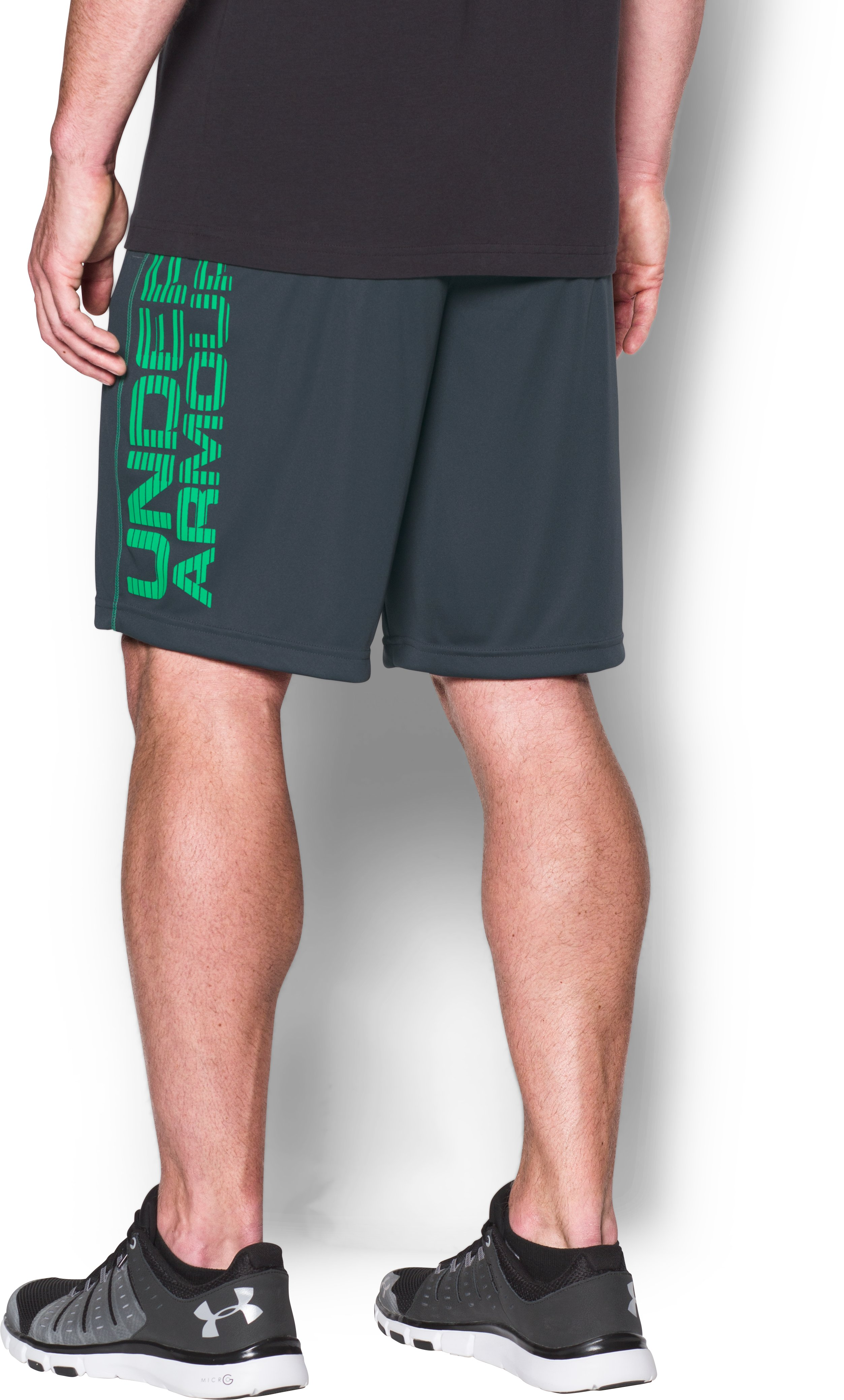 Men's UA Tech™ Graphic Shorts, STEALTH GRAY, undefined