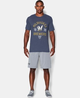Men's Milwaukee Brewers Charged Cotton® Tri-Blend T-Shirt