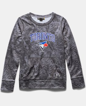Girls' Toronto Blue Jays Pattern Crew