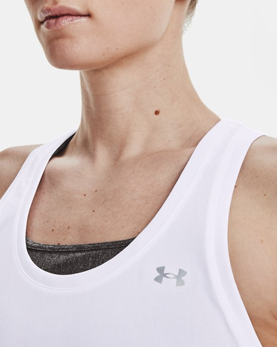 Damen UA Tech™ Tanktop, White, pdpMainDesktop image number 4