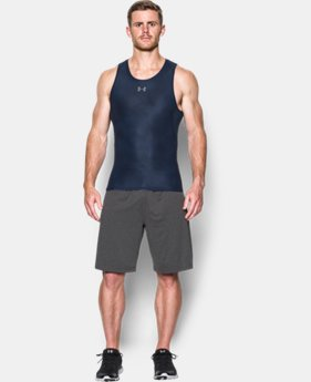 New Arrival  Men's UA HeatGear® Armour Printed Compression Tank   4 Colors $34.99