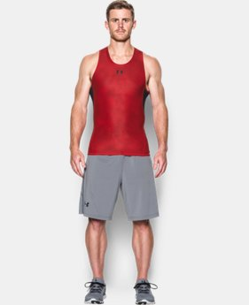 New Arrival  Men's UA HeatGear® Armour Printed Compression Tank  LIMITED TIME: FREE SHIPPING 1 Color $34.99