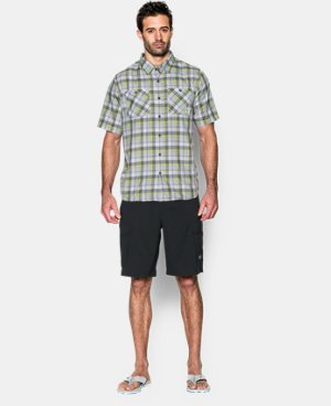 Men's UA Chesapeake Plaid Short Sleeve Shirt  3 Colors $44.99