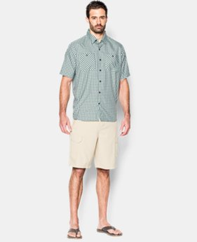 Men's UA Chesapeake Plaid Short Sleeve Shirt LIMITED TIME: FREE SHIPPING 1 Color $69.99