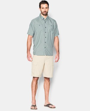 Men's UA Chesapeake Plaid Short Sleeve Shirt LIMITED TIME: FREE U.S. SHIPPING 1 Color $39.74
