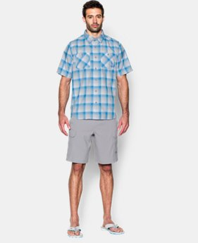 Men's UA Chesapeake Plaid Short Sleeve Shirt  2 Colors $39.74