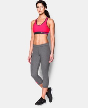New to Outlet Women's UA HeatGear® Armour Mid w/Cups  2 Colors $26.99