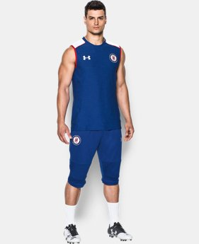 Men's Cruz Azul 16/17 Sleeveless Training Shirt  1 Color $28.49