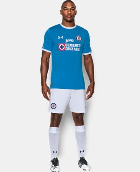 Men's Cruz Azul 16/17 Home Replica Jersey  1 Color $60.99