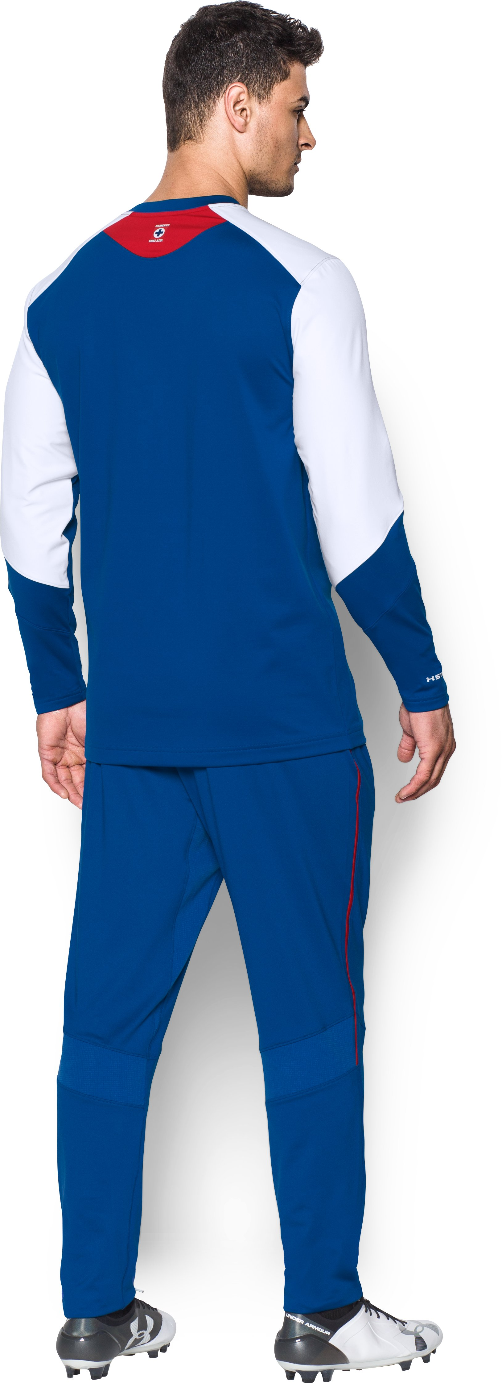 Men's Cruz Azul UA Storm Midlayer, Royal, Back
