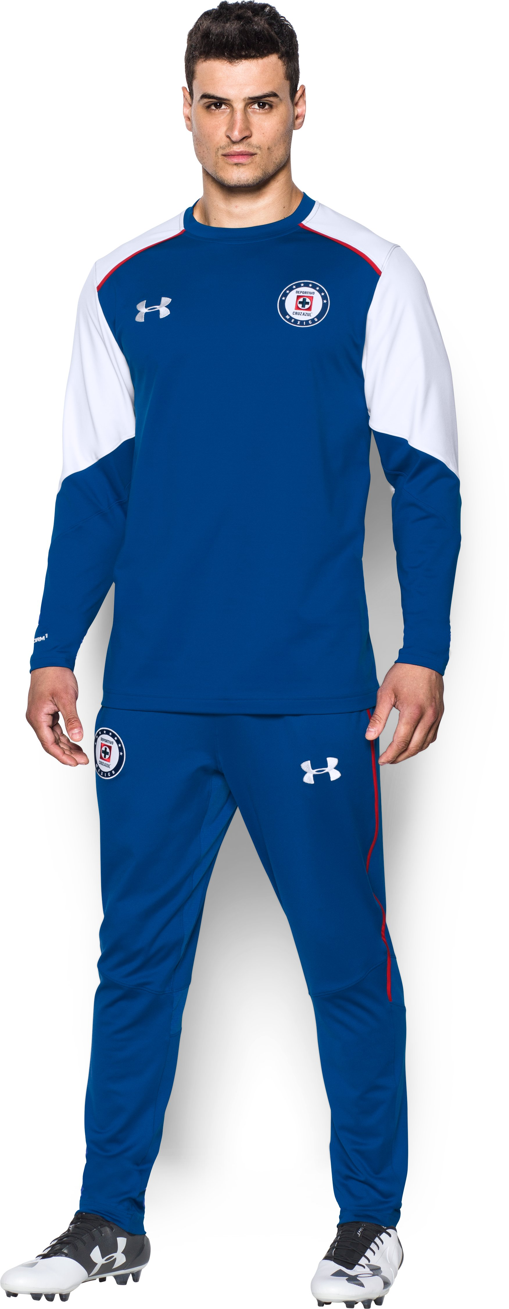 Men's Cruz Azul UA Storm Midlayer, Royal, Front