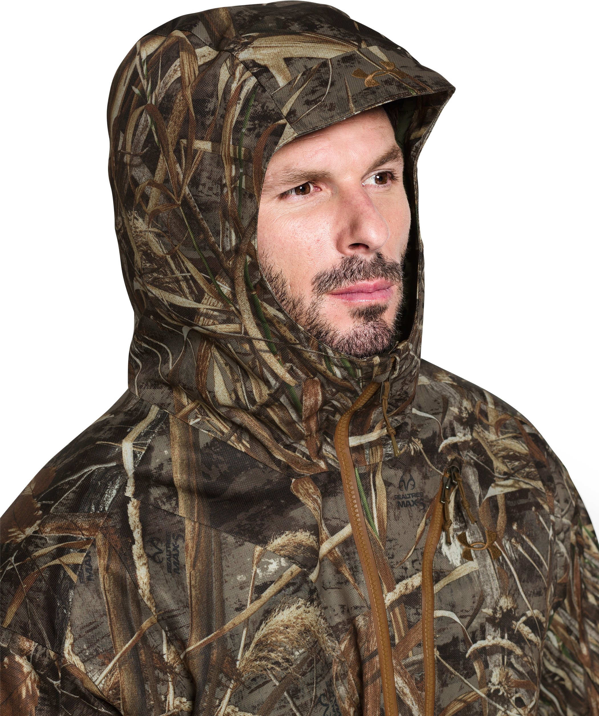 Men's UA Storm Skysweeper Insulated Parka, REALTREE MAX 5,