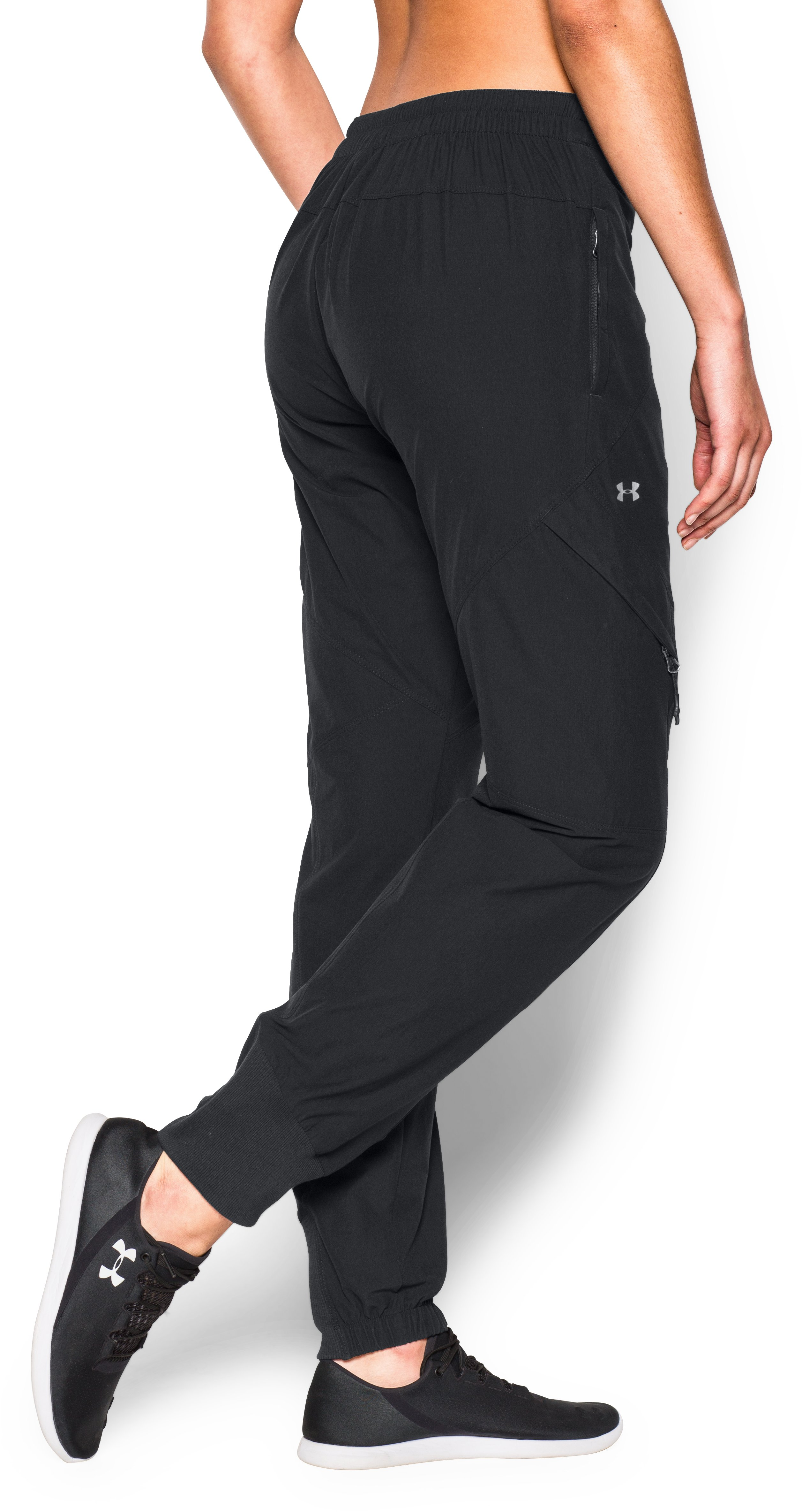 Women's UA The Next Woven Cargo Joggers, Black , undefined