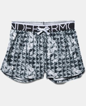 Girls' UA Printed Play Up Shorts