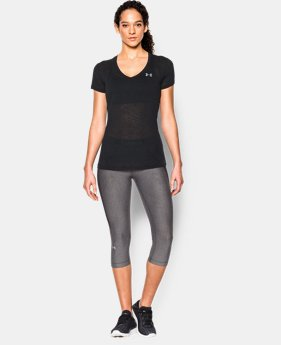 New Arrival  Women's UA Tech™ Slub V-Neck  1 Color $32.99